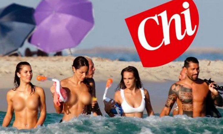 Da Stefania a Nina e ora le modelle in topless: che estate per Borriello! FOTO