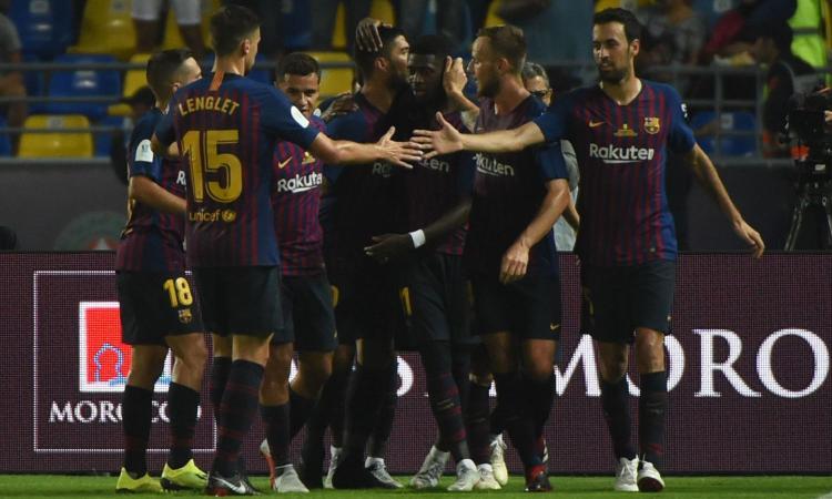 Supercoppa spagnola al Barcellona: decisivi Dembelé e ter Stegen