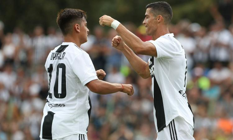 Juve: Ronaldo e Bonucci i top a Villar. Dybala segna, ma è in ritardo VIDEO