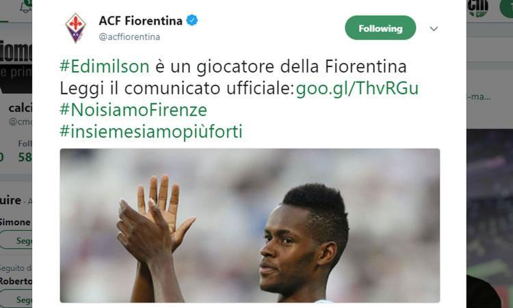 Fiorentina, UFFICIALE: ecco Edimilson