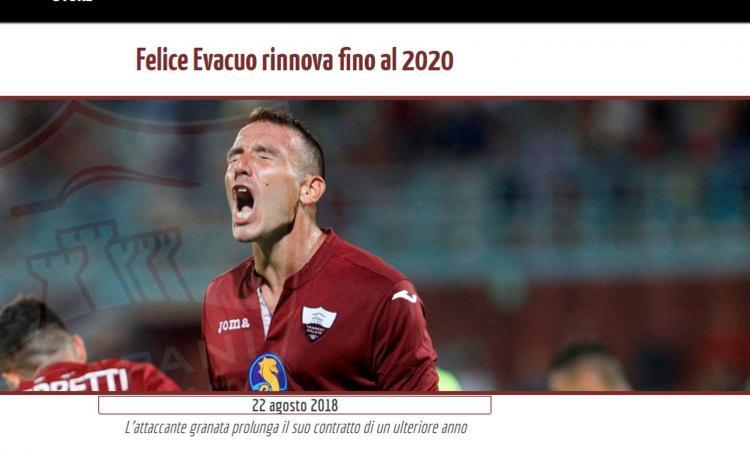 Trapani, Evacuo da record: è il miglior attaccante di sempe in Serie C