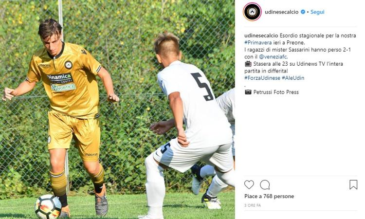 Udinese, UFFICIALE: Renzi jr nella lista Primavera