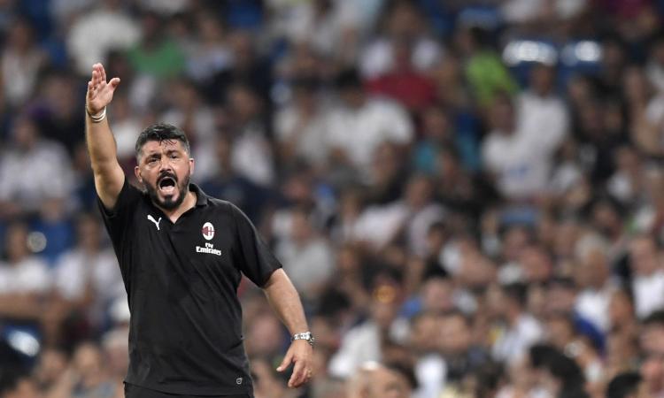 Milan, Gattuso: 'Divario con la Juve? Siamo sulla strada giusta, ma Higuain da solo non basta'
