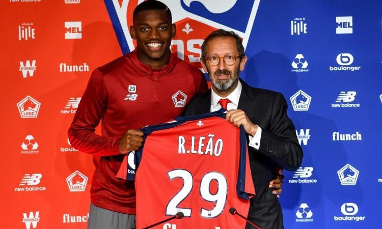 Pres Lille: 'Rafael Leao? Piace a 8 club di cui 4 italiani'