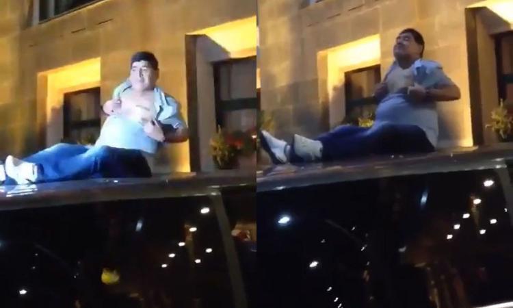 Maradona, nuovo show in Bielorussia: si spoglia per i tifosi FOTO e VIDEO