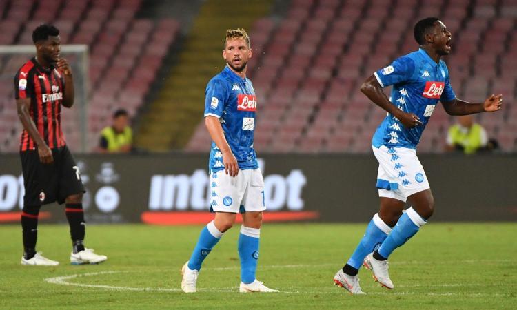 Napoli-Fiorentina, le formazioni ufficiali: out Milik, c'è Mertens. Eysseric dal 1'