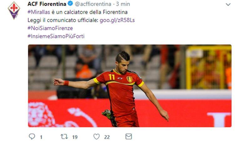 Terza Maglia Fiorentina KEVIN MIRALLAS