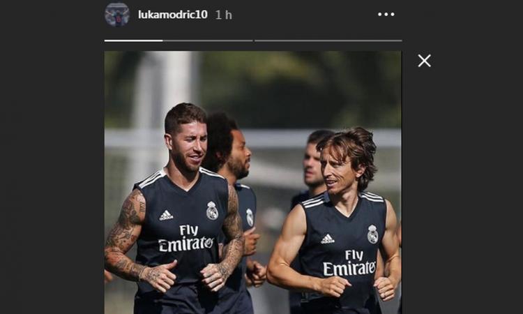 Modric difende Sergio Ramos VIDEO