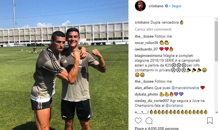 Juve, che intesa tra Ronaldo e Dybala: 'Coppia vincente!' FOTO