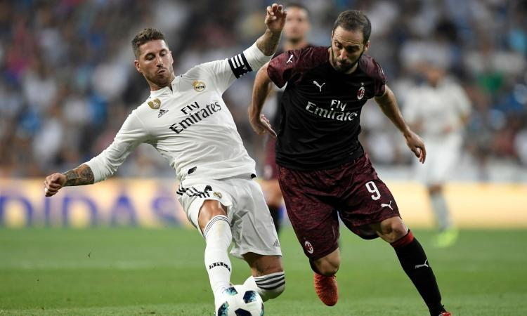 Un buon Milan cade al Bernabeu: 3-1 Real Madrid. Debutto e gol per Higuain