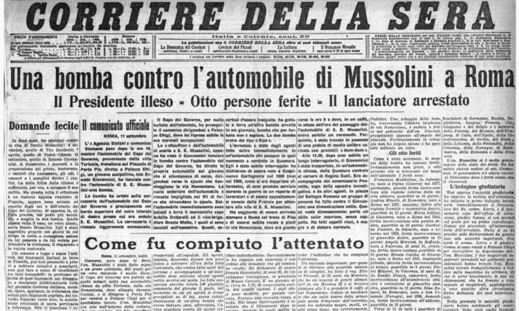 1926: la morte di Karoly, l'Alba Audace e il fallito attentato contro Mussolini