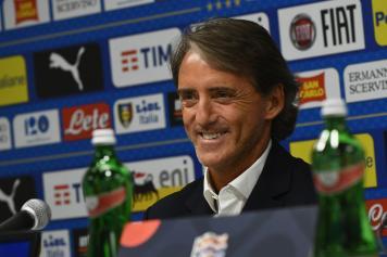 Mancini sorride Italia conferenza stampa