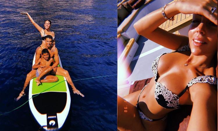 Georgina Rodriguez tifa Juve e Ronaldo: 'Vamos papà hermoso'