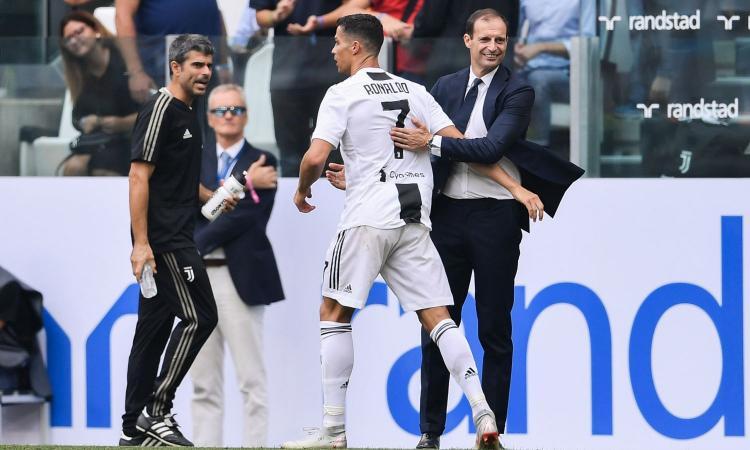 Allegri: 'Douglas Costa caduto nelle provocazioni, ci siamo incasinati da soli. Felice per Ronaldo, Dybala...' VIDEO