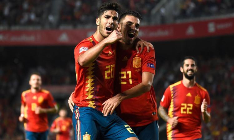 La Spagna gioca a tennis con la Croazia, 6-0 con super Asensio e sei punti