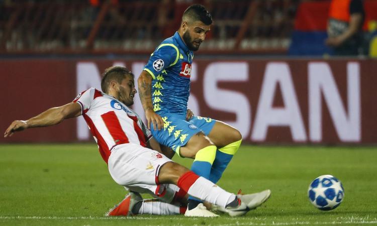 Il Napoli domina, ma contro la Stella Rossa è solo 0-0: si fa già durissima