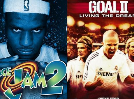 LeBron dopo Jordan in Space Jam: altro che 'Goal', con Beckham e Munez