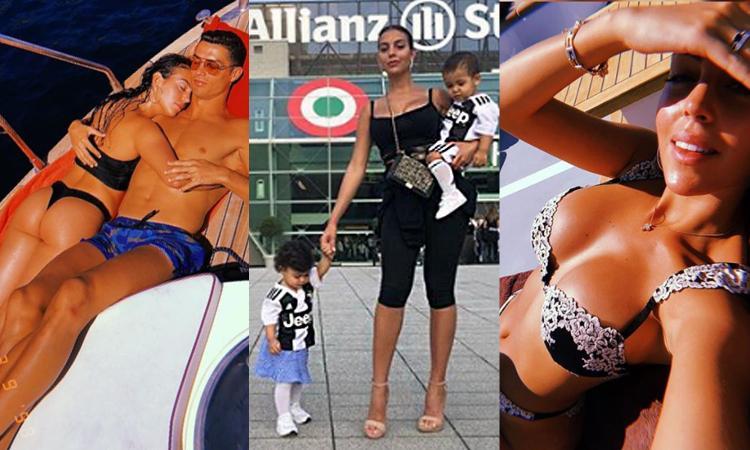 Georgina allo Stadium con i figli di Ronaldo: 'È il migliore al mondo' FOTO
