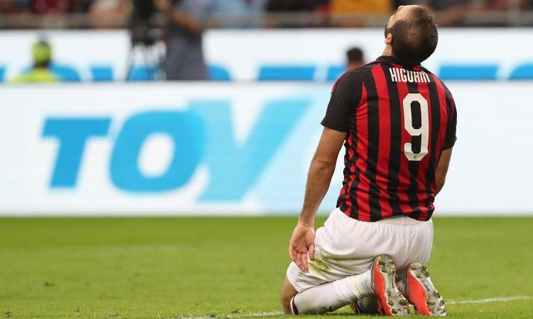 Milan, le tre condizioni dell'addio di Higuain