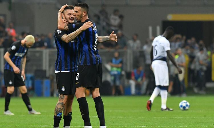 Icardi fa volare una pazza Inter che prima soffre e poi ribalta il Tottenham