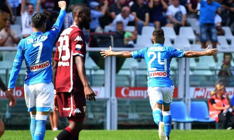 Insigne rilancia il Napoli: 3-1 al Torino