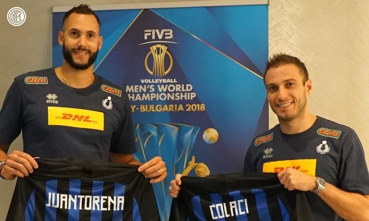 Nazionale di Volley a Milano, l'Inter veste Juantorena e Colaci