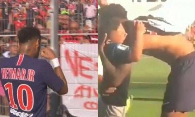 Momenti Di Gioia, è show di Neymar: esultanza 'piangina' e maglia al bimbo!