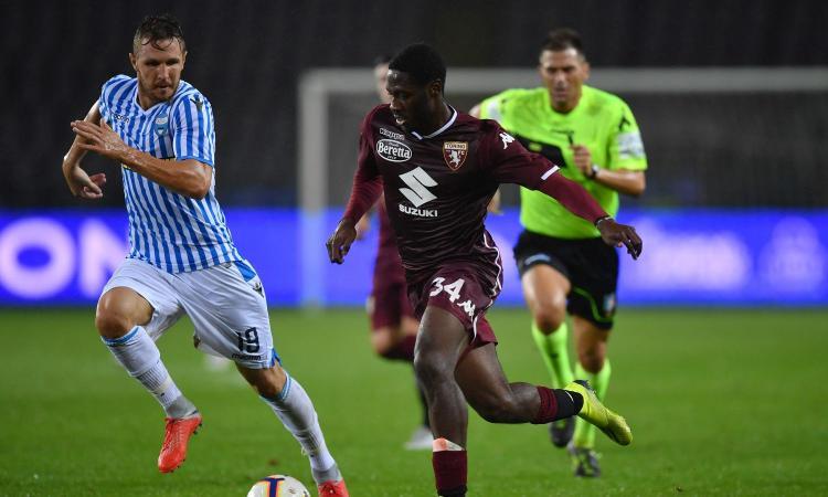 Torino, un giocatore può recuperare per l'Udinese