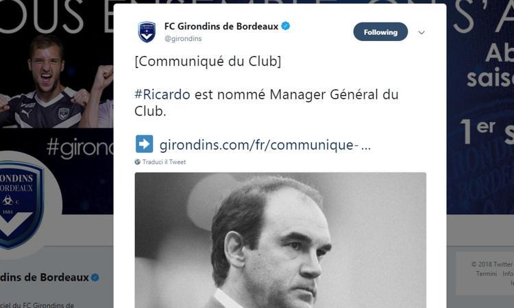 Bordeaux, UFFICIALE: Ricardo è il nuovo allenatore