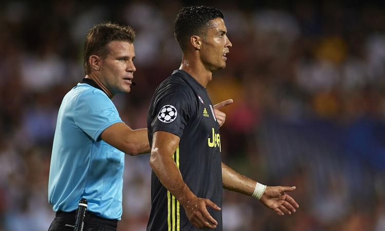 Dall'Inghilterra: Ronaldo può prendere una sola giornata di squalifica