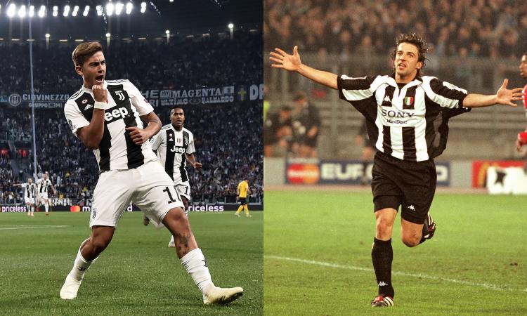 Juve: 10 e capitano in Champions, Dybala 'come' Del Piero. Le 10 migliori partite
