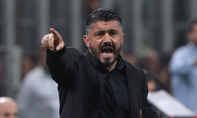 Parma-Juve, anche Gattuso in tribuna