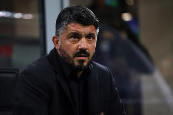 Gattuso concentrato panchina Milan