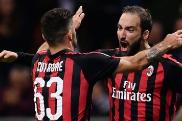 Higuain Cutrone esultanza Milan