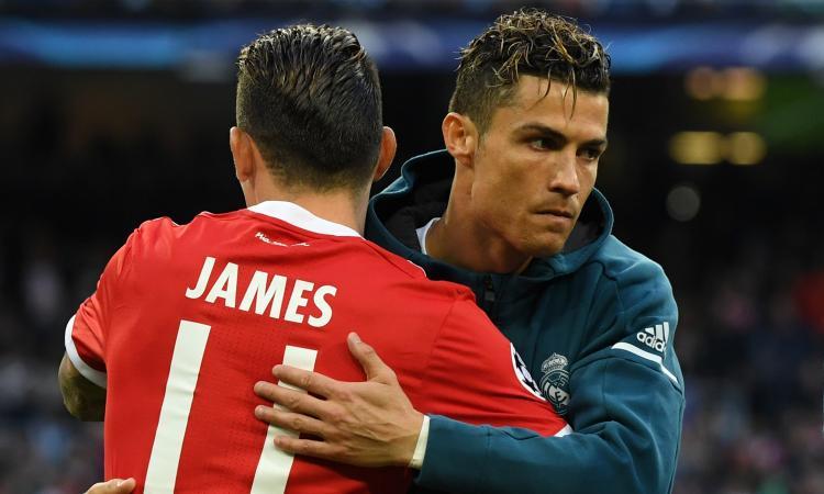 Juve, dalla Spagna: Ronaldo spinge per il colpo James