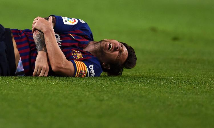 UFFICIALE: Messi salta Inter e Real. Frattura del radio, i tempi di recupero
