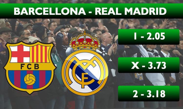 Schedina CM: il Barcellona vince il Clasico col Real Madrid, Foggia-Lecce da 1 fisso