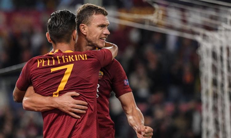 È la Roma di Dzeko: 3-1 all'Arezzo