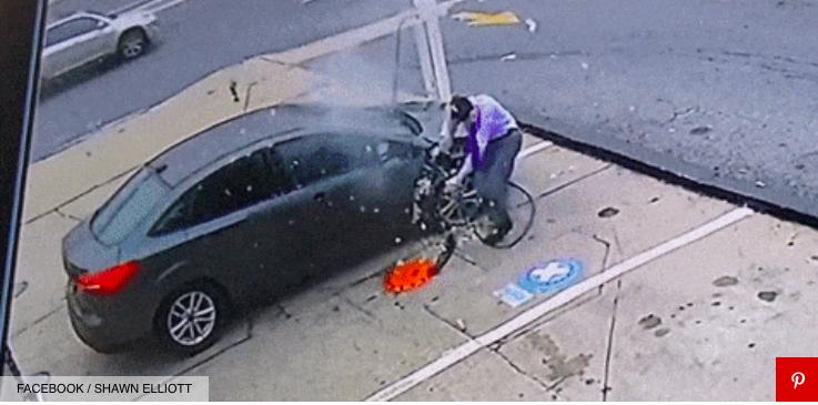 PIT STOP: gomma esplode in faccia e tragedia solo sfiorata, guarda il VIDEO