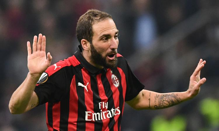Milan-Torino, le formazioni ufficiali: torna Higuain, fuori De Silvestri