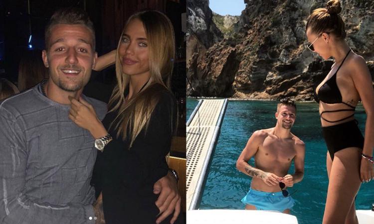 Milinkovic non brilla, pensa al mercato e si consola al pub con Natalija FOTO