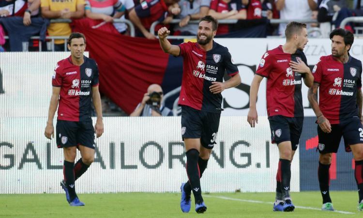 Cagliari, Pavoletti e Théréau in gruppo