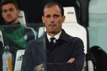 Allegri concentrato Juve Cagliari