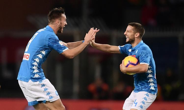 Rimonta Napoli post-interruzione: 2-1 al Genoa su campo quasi impraticabile