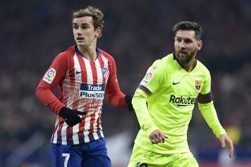 Griezmann Atletico Madrid Messi Barcellona