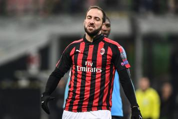 Higuain deluso Milan Dudelange