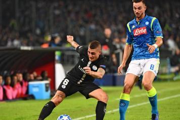 Verratti PSG Fabian Ruiz Napoli