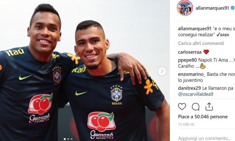 Napoli, ora tutti vogliono Allan: dal Brasile a Guardiola, il punto