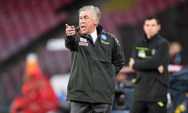 Napoli, Ancelotti: 'Troppo ampio il gap con la Juve, non ci pensiamo'