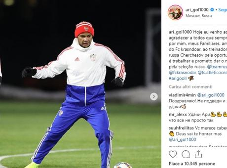 Il brasiliano Ari e il sogno russo: a 33 anni Cherchesov lo chiama in nazionale
